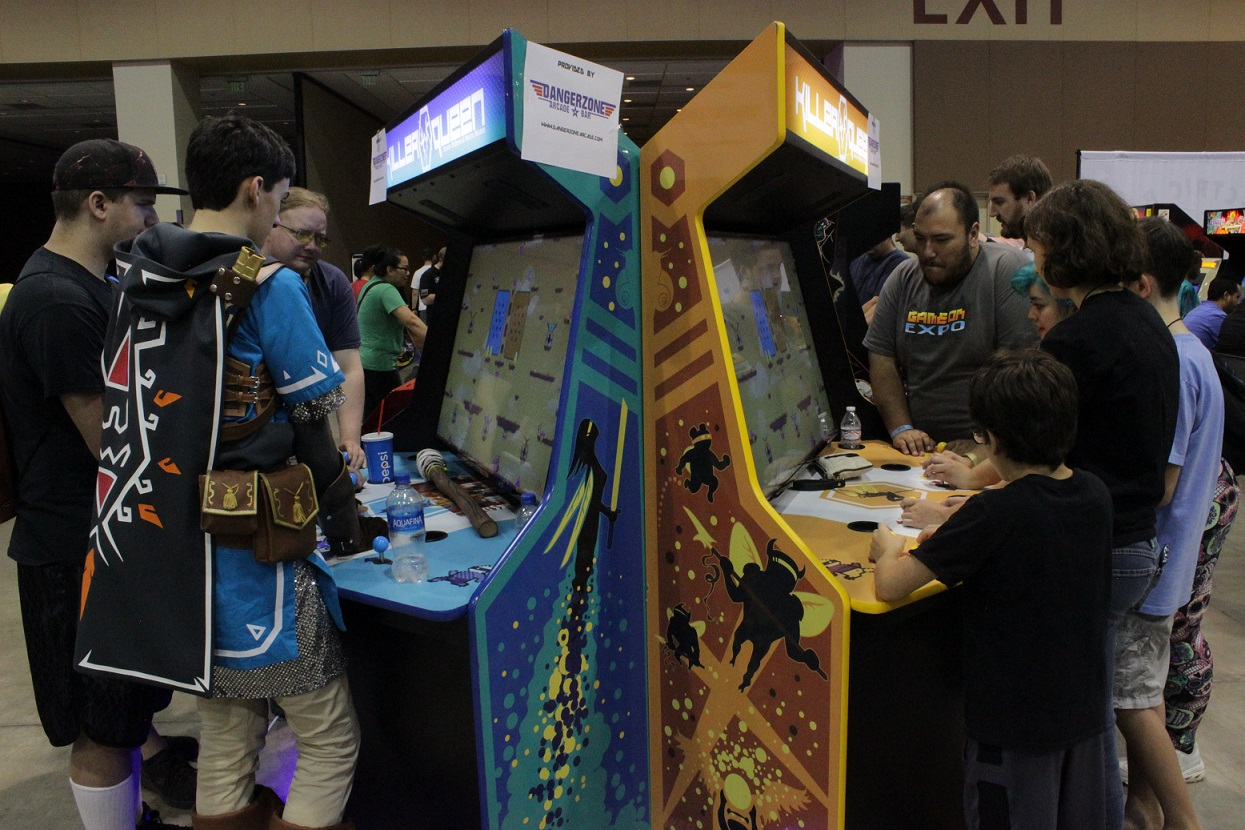 The Killer Queen cabinets proved popular throughout the weekend. Photo by Justin Franco.