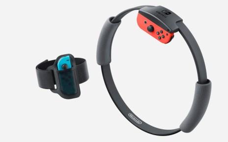 Nintendo Ring-Con and Leg Strap