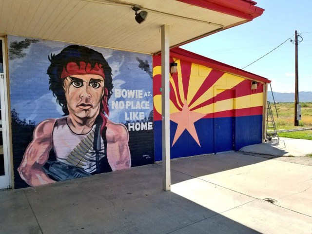 Bowie Rambo mural