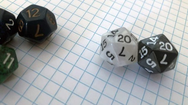 dungeons dragons dice d12 d20 2020 graph paper