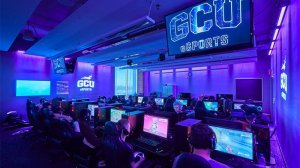 Grand Canyon University has a state-of-the-art esports arena with screens that allows others to view the action from around the facility. (Photo courtesy of GCU)