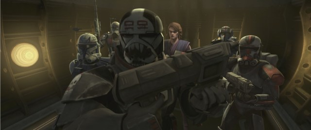 Clone Captain Rex, the Bad Batch and General Anakin Skywalker prepare to infiltrate a Techno Union facility where they make a shocking discovery in STAR WARS: THE CLONE WARS, exclusively on Disney+.