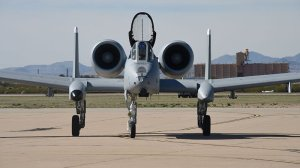 An Air Force A-10 taxis down the flight line at Davis-Monthan Air Force Base in Tucson on Feb. 27. Rep. Ann Kirkpatrick, D-Tucson, said the Air Force plans to retire 42 of the planes at Davis-Monthan next year, half the A-10s there. (Photo by 2nd Lt. Casey E. Bell/U.S. Air Force)