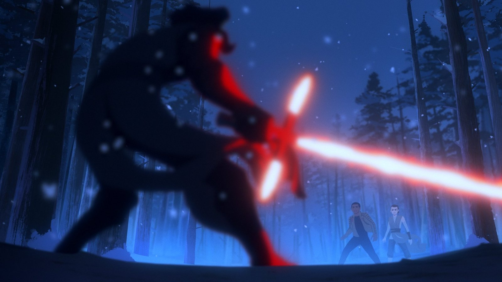 Rey and Finn vs. Kylo Ren