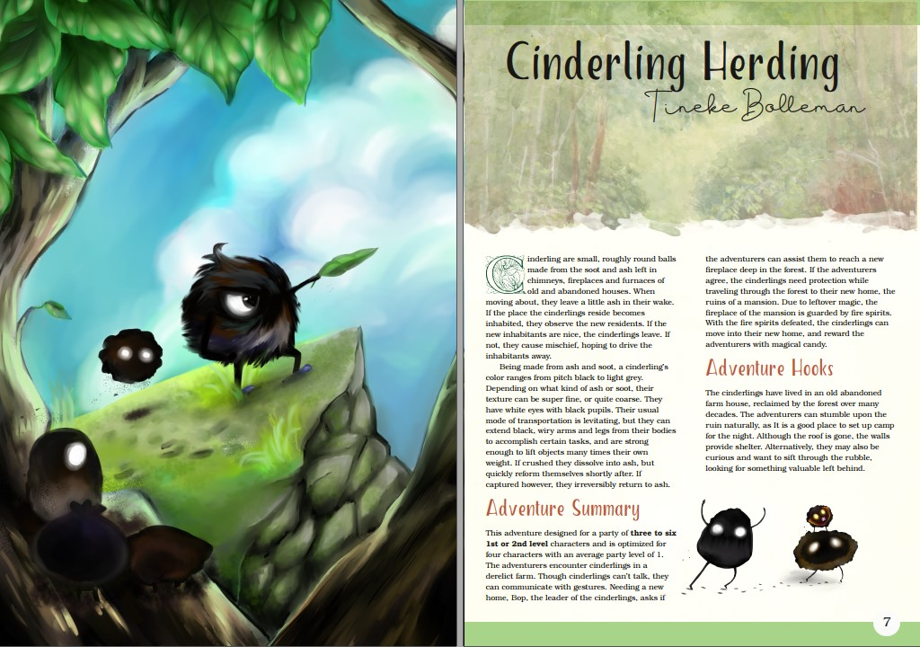 Cinderling Herding Adventure by Tineke Bolleman Art by Lessie Nieves-Paugh