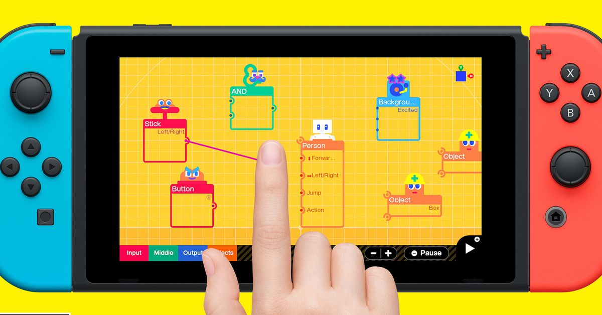 Nintendo announces 'Game Builder Garage' for Switch