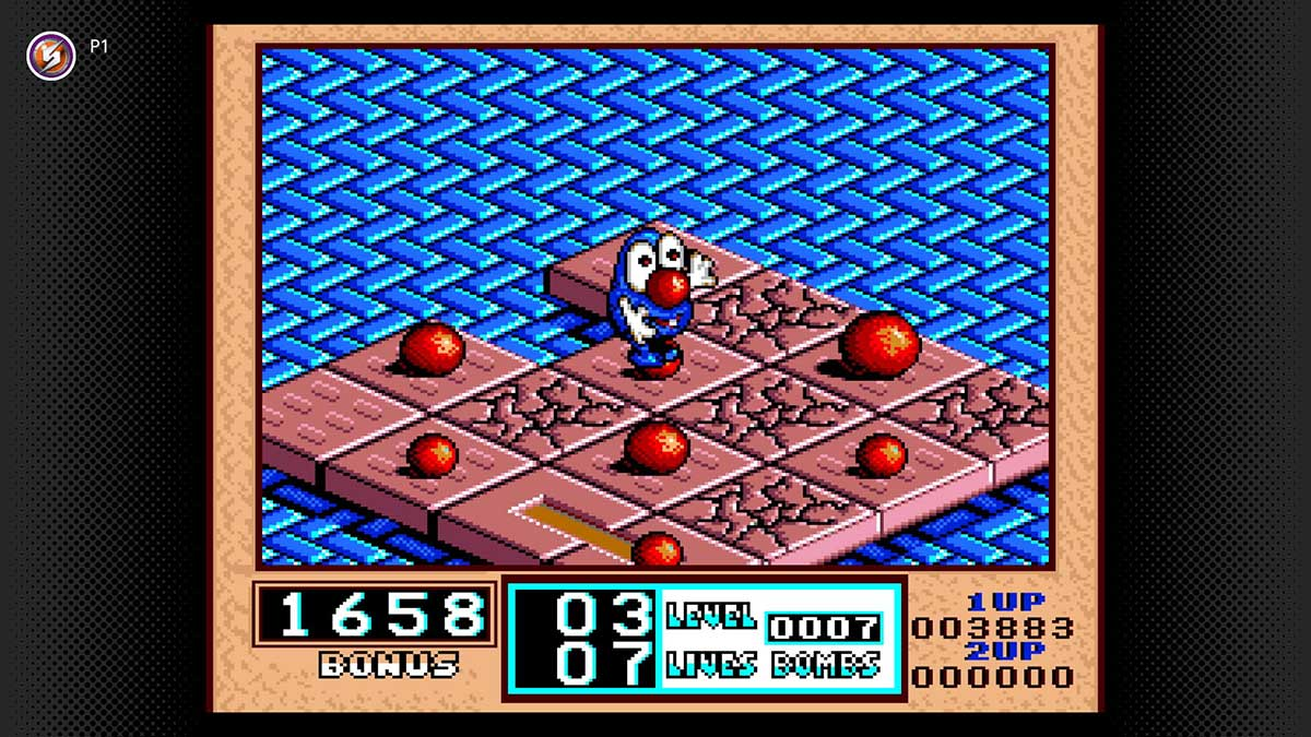 On July 28, Bombuzal arrives to the Super Nintendo Entertainment System – Nintendo Switch Online library. Strategically detonate every bomb in each level while leaving yourself a safe place to stand when the dust settles. In this puzzle game, you'll have to be quick, because time is short.