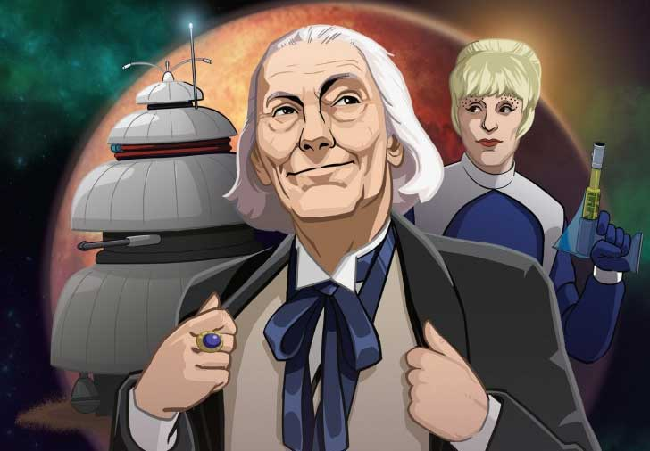 Doctor Who First Doctor Galaxy Four animation