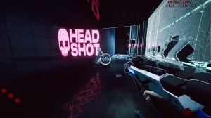 The game exceeds in style points from cyberpunk-esque levels to neon enemy damage markers.