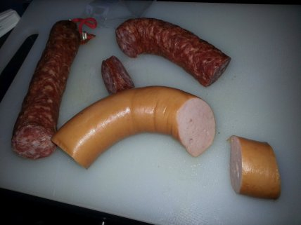 You can, however, already slice the sausages if you want.