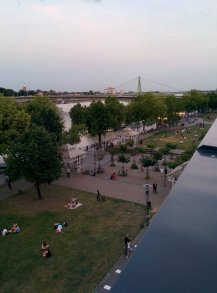 Cologne view from down the terrace