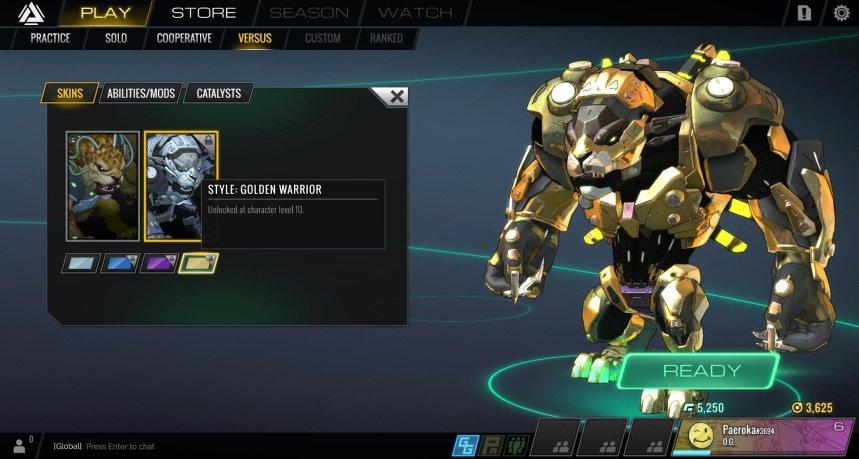 Atlas Reactor Rask Style Golden Warrior