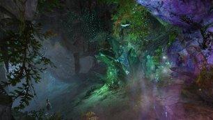 GW2_Crystals in a cave