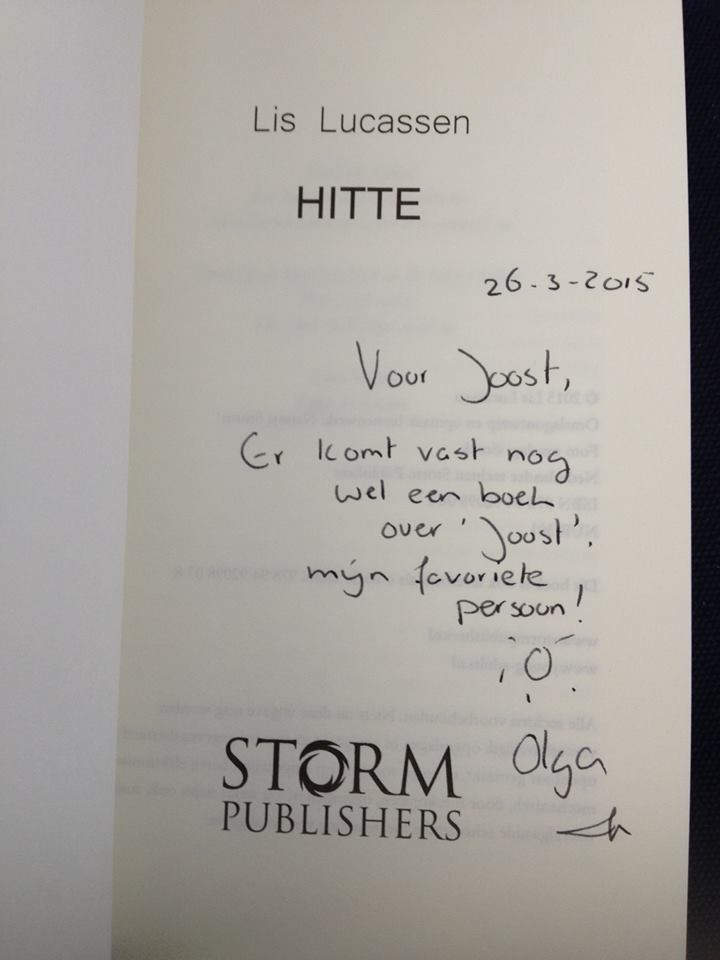 Hitte Lis Lucassen handtekening
