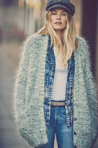 free people oversized cardigan via free people on pinterest