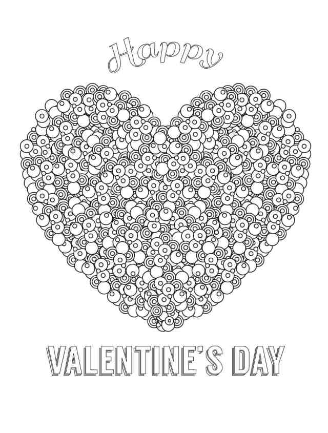 24 Free Printable Valentines Adult Coloring Pages - Nerdy Mamma