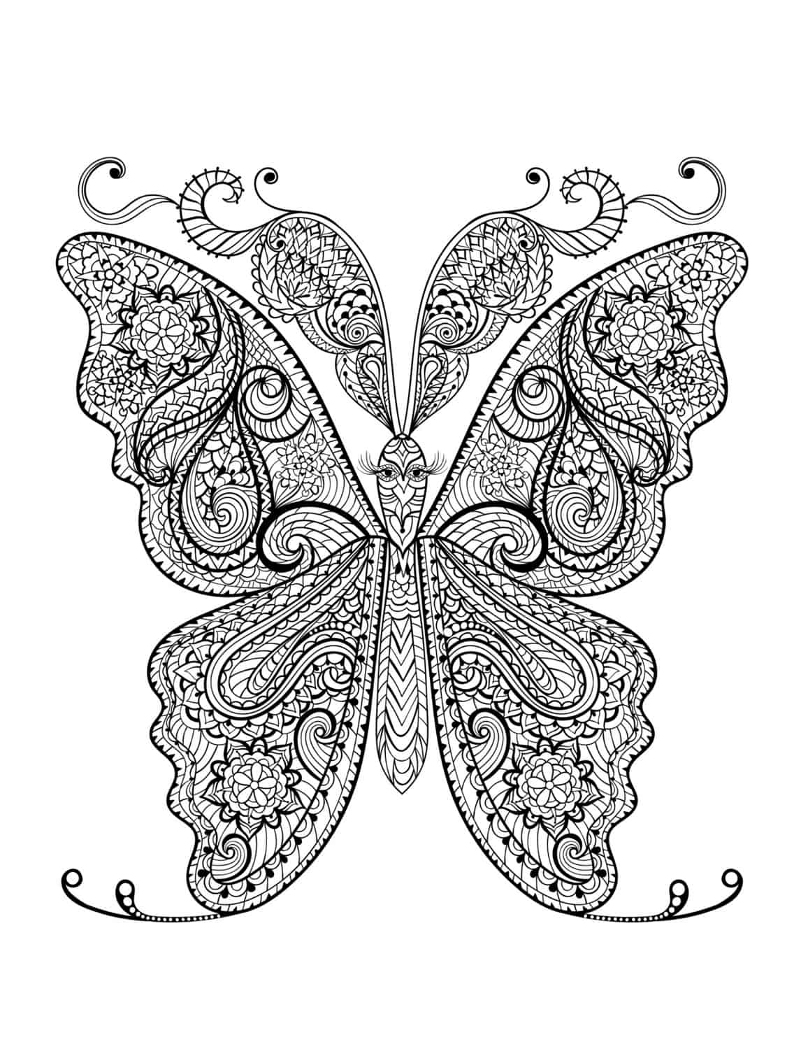 23 Free Printable Insect Amp Animal Adult Coloring Pages