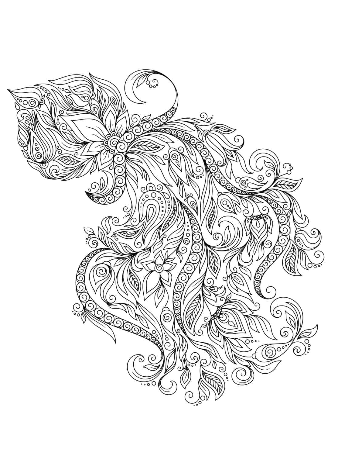 adult coloring pages for adults that are free to print animal adult