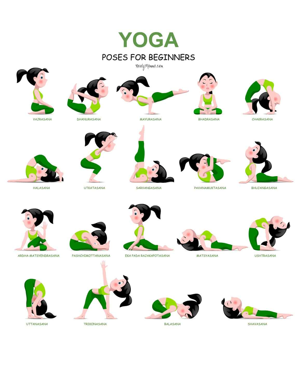 graphic regarding Free Printable Yoga Poses identified as No cost Printable Yoga Playing cards For Youngsters - Upon Log Wall