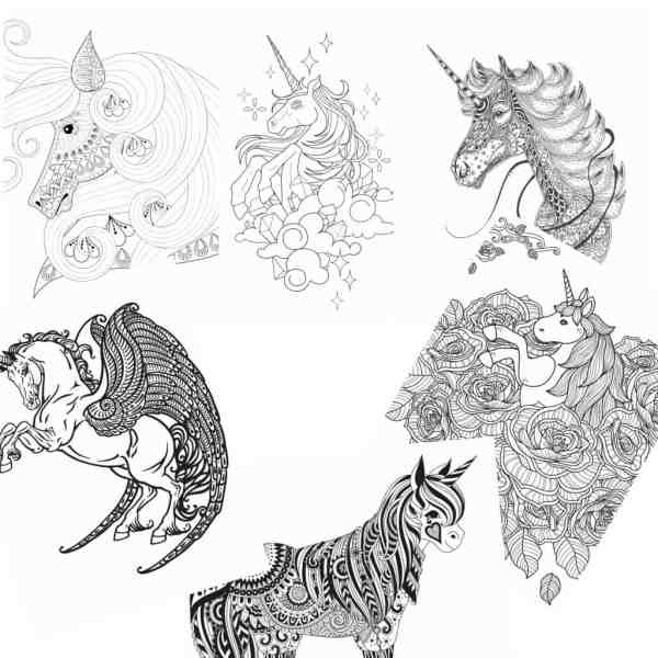 free unicorn coloring pages # 15