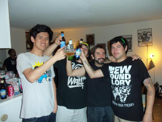 2012. Some of the best players from Chile drinking and playing games at my apartment in LA.