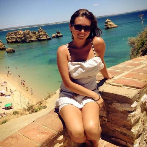 At the beach in Portugal!