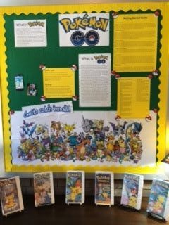 Photograph of Pokemon Go display