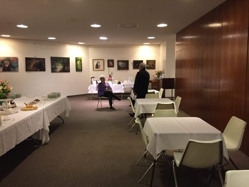 Event preparation - William McMullin retirement ceremony