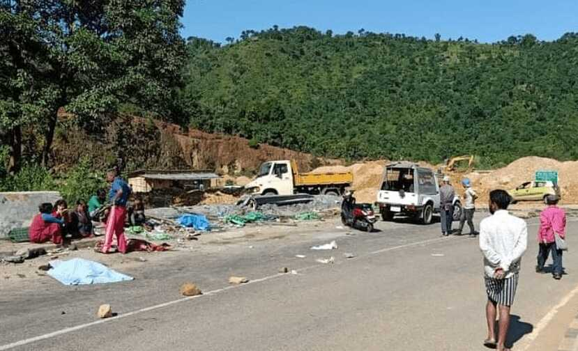Five people including four women vendors killed in road mishap in Meghalaya