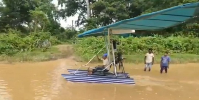 Assam mason builds his own seaplane with motorcycle engine