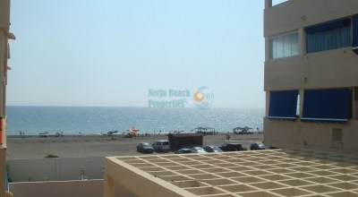 Apartment frontline beach El Morche Spanish part of Torrox 1 bedroom pool for sale