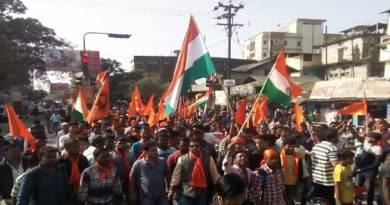 डिब्रूगढ़- पाकिस्तानी झंडा मिलने के विरोध में जुलूस, प्रदर्शन