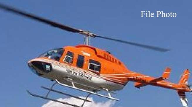 मुख्यमंत्री के हेलीकाप्टर की इमरजेंसी लैंडिंग