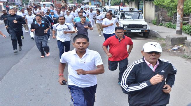 एकता के लिए दौड़ कार्यसूची का आयोजन