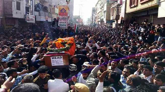 अरुणाचल में शहीद हुए राकेश कुमार के शव यात्रा में उमड़ा जन सैलाब