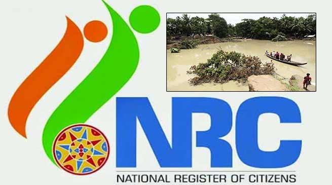 असम: बाढ़ के कारण एनआरसी के प्रकाशन समय पर नहीं