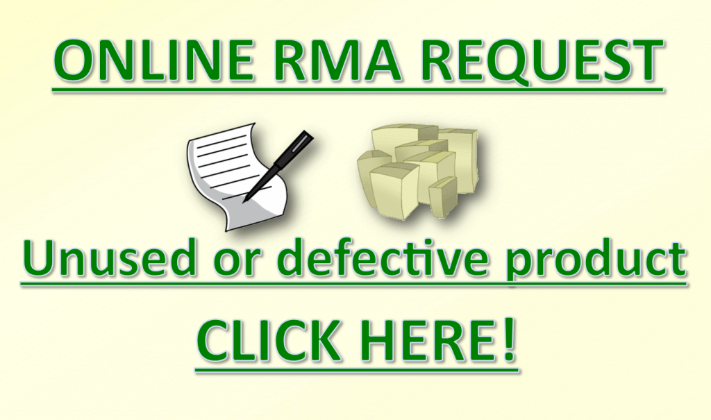 Online RMA Request Badge