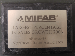Mifab Largest Percentage in Sales Growth - 2006