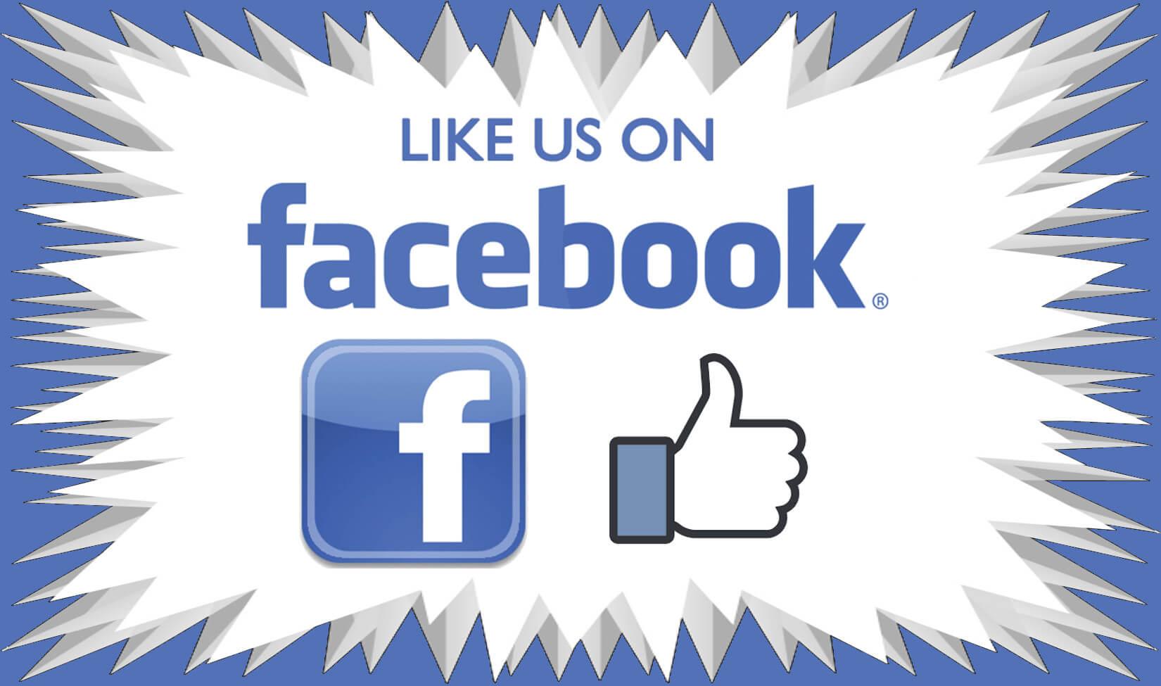 Like us on Facebook badge
