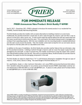 Prier Brick Buddy press release