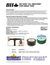 Boshart Pipe Wrap Tape Sell Sheet