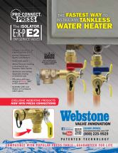 Webstone Pro Connect Isolator EXP E2 Sell Sheet Front
