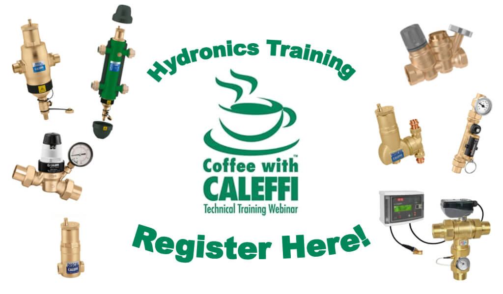 Coffee with Caleffi homepage button - Sign up Button