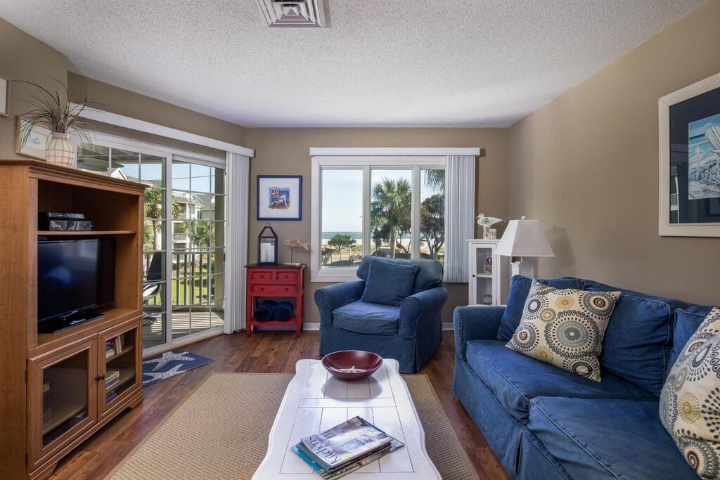 Wild Dunes Condo Living Room Pic