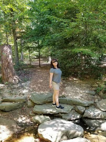 Julie hiking