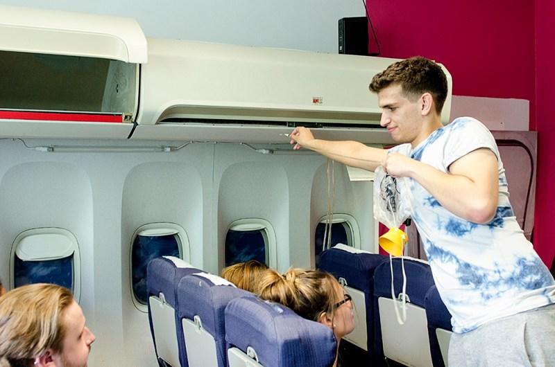Film location nescot ewell epsom surrey college aircraft cabin mock up