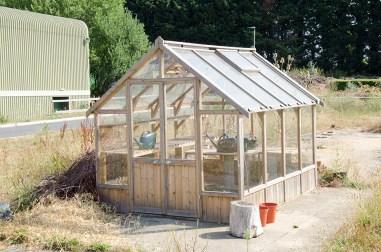 building greenhouse rustic