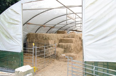 farm rustic building hay