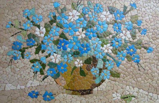 Мозайка от яйчени черупки