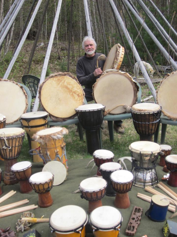 John Serino-drums-drum circle
